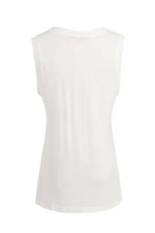 Simple Round Neck Sleeveless Letter Tank Top For Women от Rosegal.com INT