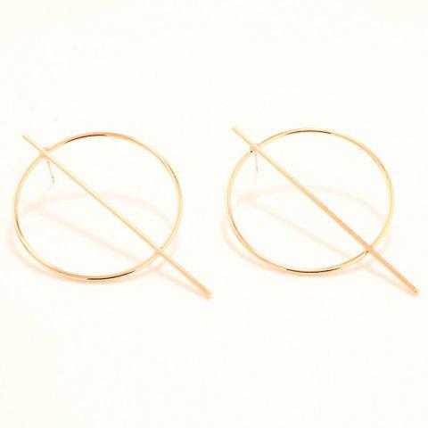Affordable Pair of Statement Stick Circle Earrings