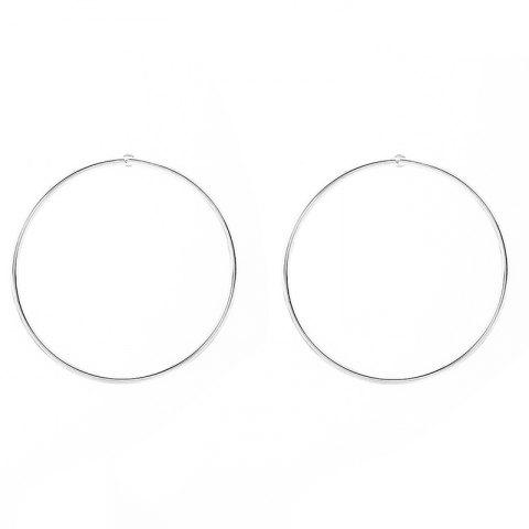 Outfit Pair of Circle Alloy Stud Earrings SILVER