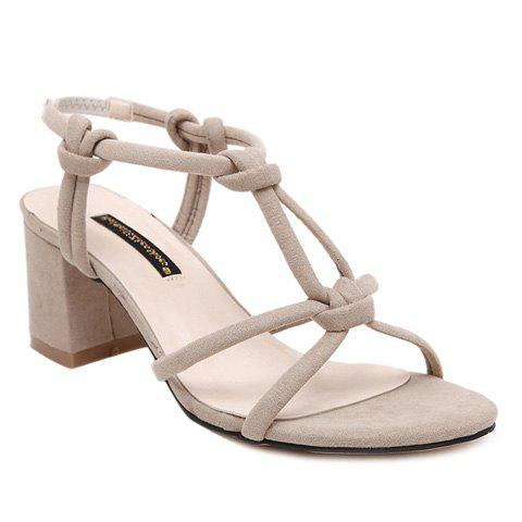 Outfit Trendy T-Strap and Elastic Design Sandals For Women