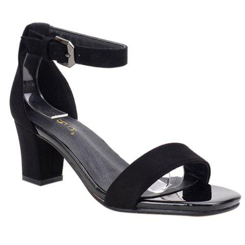 Best Vintage Ankle Strap and Chunky Heel Design Sandals For Women