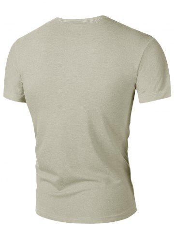 Round Neck Solid Color Short Sleeves T-Shirt For Men от Rosegal.com INT