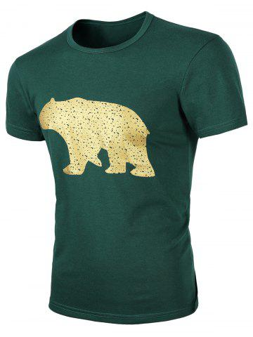 Sale Round Neck Animal Print Short Sleeves T-Shirt For Men