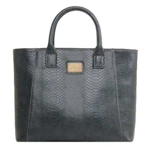 Cheap Trendy Crocodile Print and Metal Design Tote Bag For Women