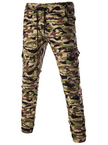 Latest Casual Camouflage Lace Up Pants For Men ARMY GREEN 2XL