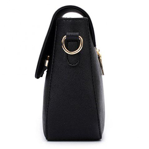 New Simple Style Metal and Magnetic Closure Design Crossbody Bag For Women - WINE RED  Mobile