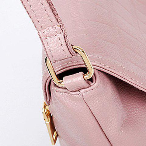 Sale Stylish Magnetic Closure and Embossing Design Crossbody Bag For Women - PINK  Mobile