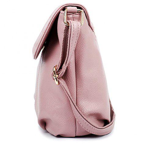 Latest Stylish Magnetic Closure and Embossing Design Crossbody Bag For Women - PINK  Mobile