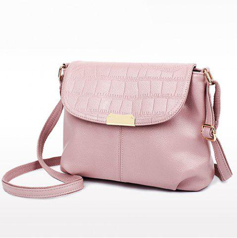 Online Stylish Magnetic Closure and Embossing Design Crossbody Bag For Women - PINK  Mobile