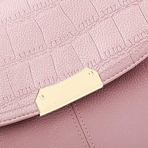 Cheap Stylish Magnetic Closure and Embossing Design Crossbody Bag For Women - PINK  Mobile
