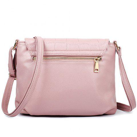 Buy Stylish Magnetic Closure and Embossing Design Crossbody Bag For Women - PINK  Mobile