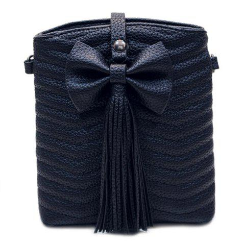 Cheap Stylish Bow and Tassels Design Crossbody Bag For Women