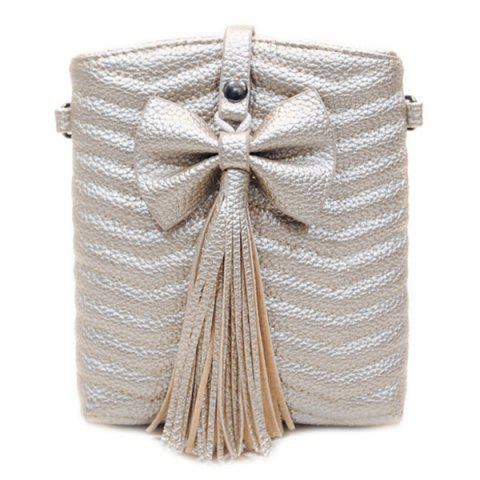 Chic Stylish Bow and Tassels Design Crossbody Bag For Women - GOLDEN  Mobile