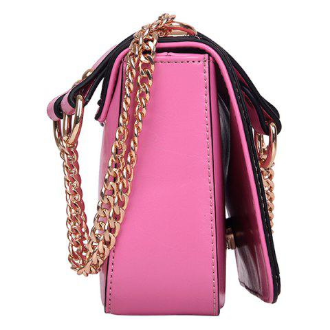 Unique Stylish Geometric and Chains Design Crossbody Bag For Women -   Mobile