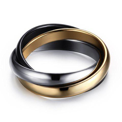 Buy Cool Polished Tricyclic Finger Ring GOLDEN
