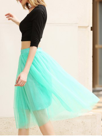 Best Elastic Waist Puff Five Layers Tulle Skirt