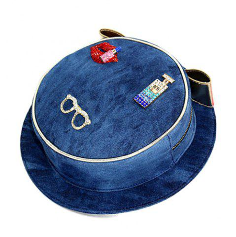 Chic Chic Hat Shape and Denim Design Crossbody Bag For Women