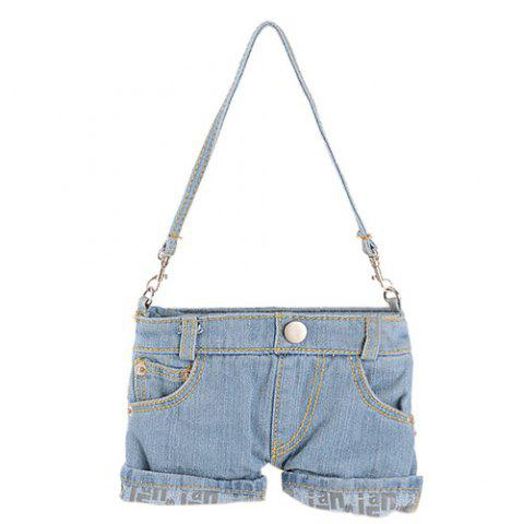 Latest Stylish Short Jeans Shape and Stitching Design Shoulder Bag For Women