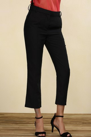 Unique Mid-Waisted Straight Leg Pants