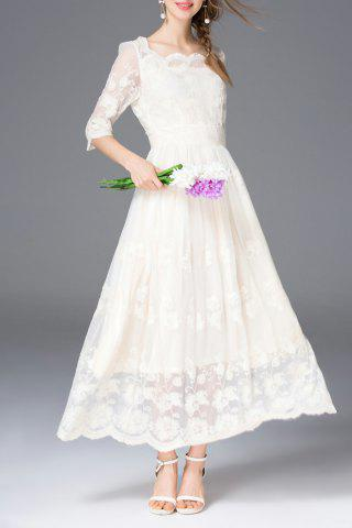 Fashion A Line Embroidered Long Dress