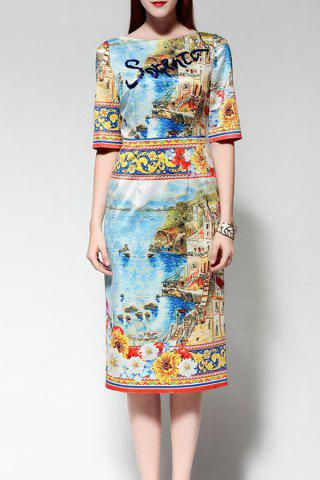 Store Sequined Colorful Midi Dress