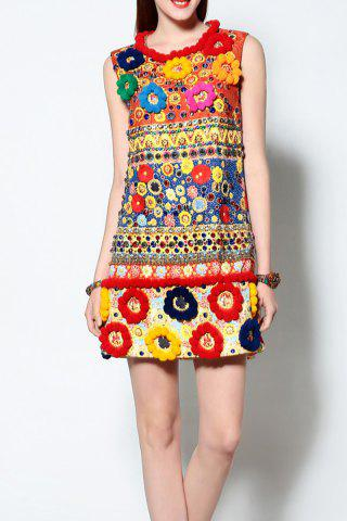 Affordable 3D Ball Patched Sundress