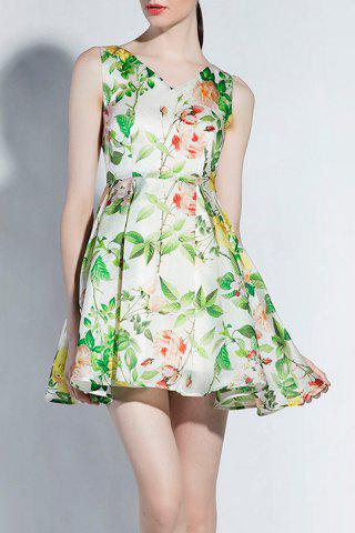 Chic Short Floral Flare Dress