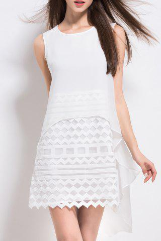 Outfit White A Line Sleeveless Dress