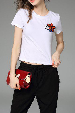 New Fitting Floral Sequined T-Shirt