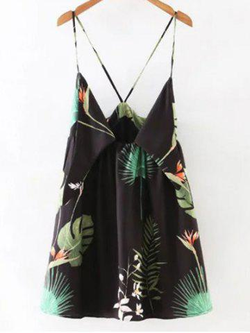 New Alluring Printed Low Cut Women's Cami Dress