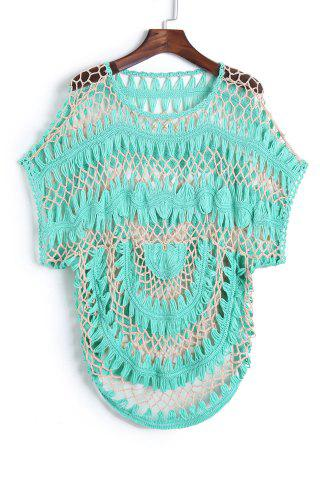 Hot Short Sleeve Crochet Cover Up