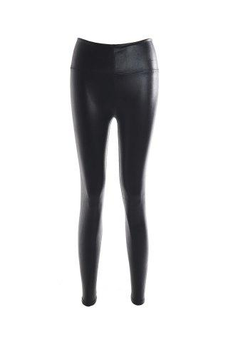 Discount Fashionable Solid Color Fitted Legging For Women - ONE SIZE(FIT SIZE XS TO M) BLACK Mobile