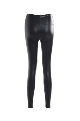 Outfits Fashionable Solid Color Fitted Legging For Women - ONE SIZE(FIT SIZE XS TO M) BLACK Mobile