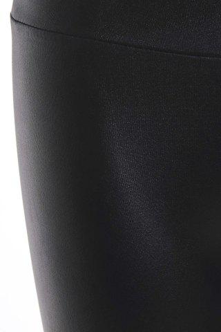 Fancy Fashionable Solid Color Fitted Legging For Women - ONE SIZE(FIT SIZE XS TO M) BLACK Mobile
