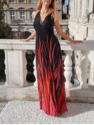 Halter Neck Ombre Plus Size Maxi Prom Dress