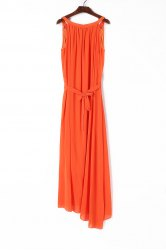 Sleeveless Floor Length Chiffon Beach Swing Dress