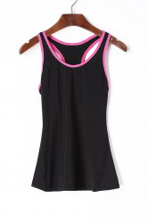 Scoop Neck Racerback Yoga Running Tank Top -