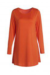 Sweet Candy Color Long Sleeve Straight Chiffon Dress For Women