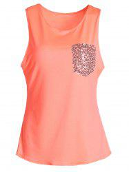 Stylish U-Neck Sleeveless Sequined Women's Tank Top -