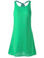 Backless Mini Summer Dress - GRASS GREEN