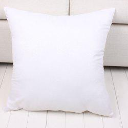 Fashion Solid Color Square Shape Fleece Pillow Inner (Without Pillowcase) -