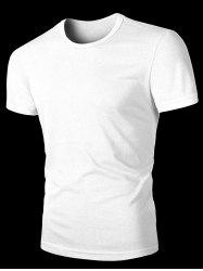 Round Neck Solid Color Short Sleeves T-Shirt For Men -