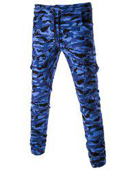 Casual Camouflage Lace Up Pants For Men -