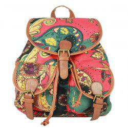 Preppy Style Drawstring and Cover Design Satchel For Women -