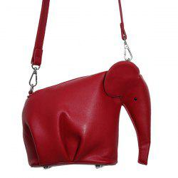 Cute Solid Color and Zip Design Crossbody Bag For Women - RED
