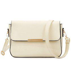 Simple Style Metal and Magnetic Closure Design Crossbody Bag For Women