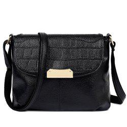 Stylish Magnetic Closure and Embossing Design Crossbody Bag For Women