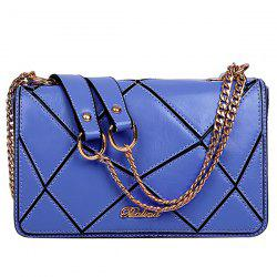 Stylish Geometric and Chains Design Crossbody Bag For Women -