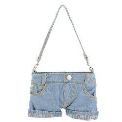 Stylish Short Jeans Shape and Stitching Design Shoulder Bag For Women -