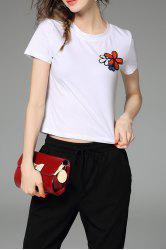 Fitting Floral Sequined T-Shirt -